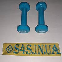 Гантели для фитнеса с виниловым покрытием Zelart Beauty TA-5225-0,5 2шт x 0,5кг Голубой