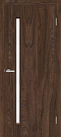 """Двері міжкімнатні ОМиС """"Техно Т01"""" дуб Такома + скло (Natural Look) (600,700,800,900 мм)"""