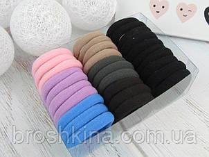 Резинки для волос микрофибра Ø 4 см 30 шт. в коробочке