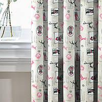 Комплект Декоративных Штор в детскую комнату Испания Фото собачек Розовый, арт. MG-145553, 275*170см