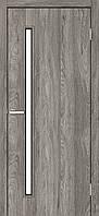 """Двері міжкімнатні ОМіС """"Техно Т01"""" дуб Денвер + скло (Natural Look) (600,700,800,900мм )"""