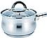 Кухонный ковш | Сотейник | Ковш с крышкой из нержавеющей стали Benson BN-226 1,8 л, фото 2