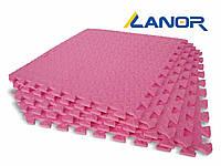 Lanor Детский мягкий пол-пазл 500*500*10мм EVA розовый