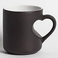 Печать на чашке хамелеон сердце