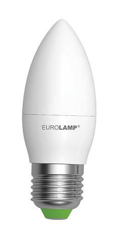LED Лампа EUROLAMP EKO CL 6W E27 3000K, фото 2