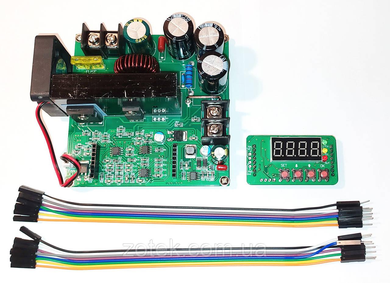 BST900W 15A DC-DC Повышающий преобразователь стабилизатор с цифровым управлением 8-60В->10-120В T900W