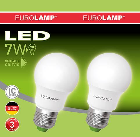Промо-набор LED Лампа EUROLAMP EKO A50 7W E27 4000K, фото 2