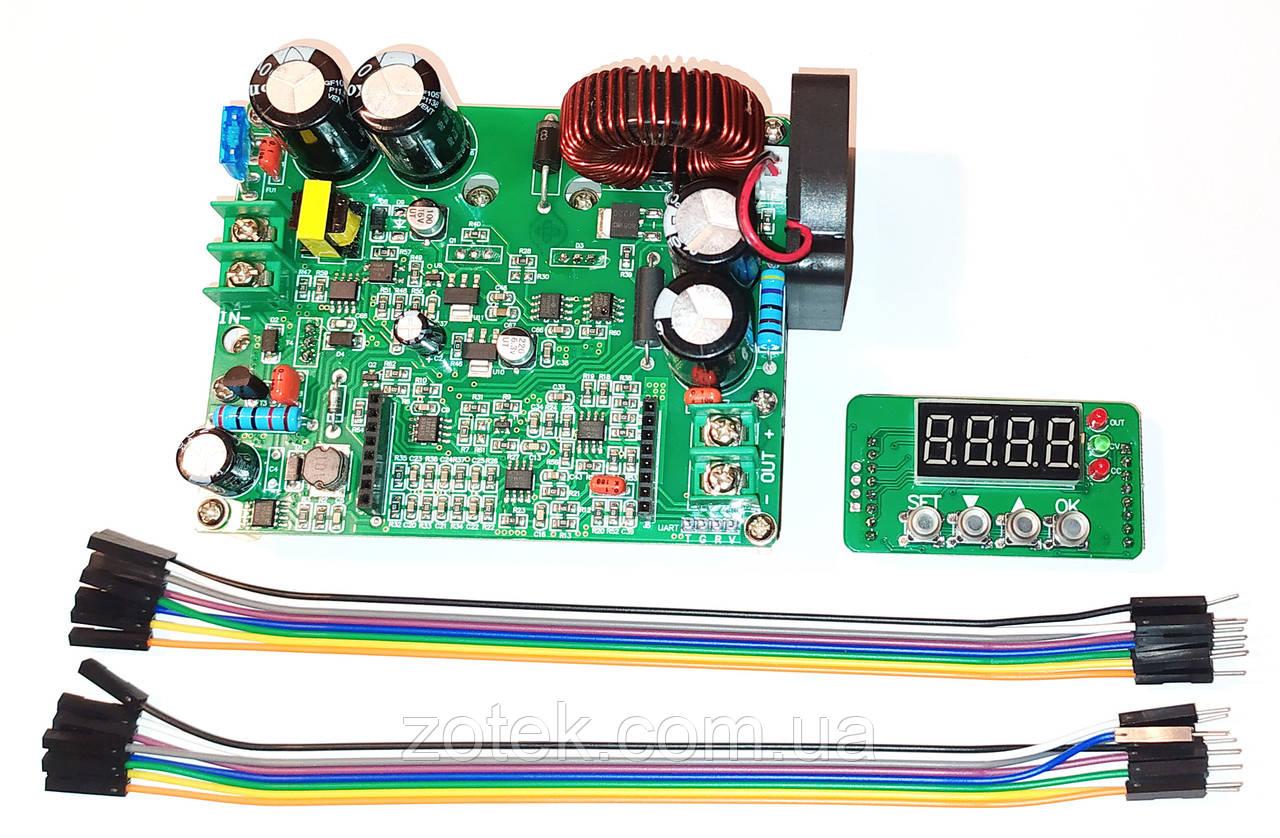 DKP6012 12A DC-DC Понижающий преобразователь стабилизатор с цифровым управлением 10-75В->0-60В