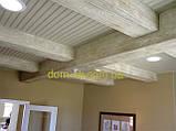 Балка из полиуретана  модерн 90х60 патина коричневая 3 м, фото 3