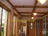 Балка из полиуретана  модерн 90х60 патина коричневая 3 м, фото 8