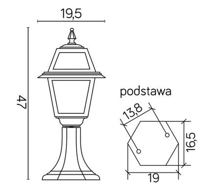 Уличная лампа 47см, фото 2