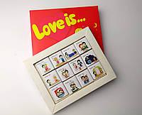 """Шоколадный набор """"Love is"""" 60 г красный - Подарок для для любимого/любимой - Признание в любви"""