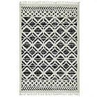 Ковер BILBAO Y584A 1,6Х2,3 Черный с белым прямоугольник, фото 5