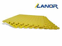 Lanor Детский мягкий пол-пазл 500*500*10мм EVA желтый