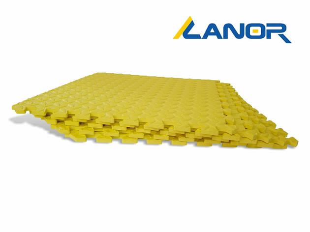 Lanor Детский мягкий пол-пазл 500*500*10мм EVA желтый, фото 2