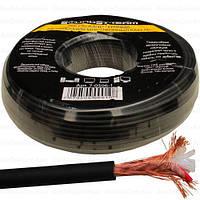 Кабель микрофонный 2жилы в экране SoundStream, 25×0.12мм, Cu, Ø6мм, чёрный, 100м