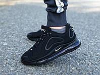 Кроссовки мужские черные Nike Air Max 720 реплика 46р-29,5 см