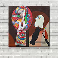 Настенный декор Абстрактная картина Дизайн комнаты Картина на холсте Декорация стен Красная картина