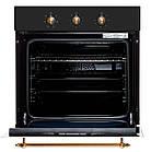 Електрична духова шафа BORGIO OFA 102.01 (Black Rustic) Чорна Антрацит, фото 2