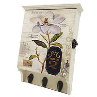 "Настенная ключница ""Цветок"", деревянная красивая ключница, декор для дома"