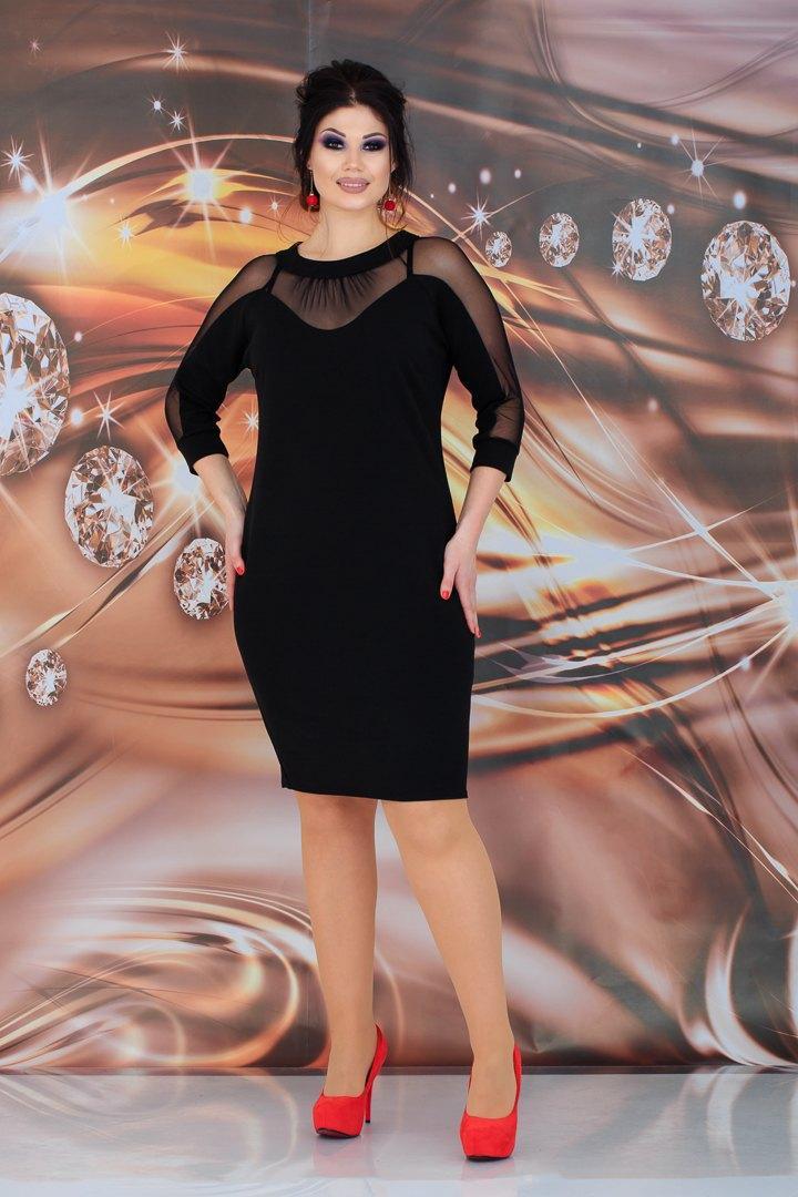 Стильное платье   (размеры 48-54) 0232-83