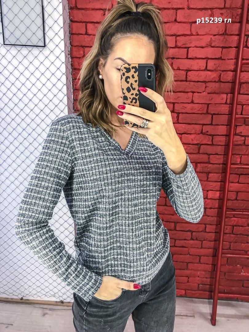 Женский трикотажный свитер р15239 гл