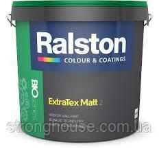 Ralston Extra Tex Matt 2 BTR 9л матовая краска Ралстон Экстра Текс Мат
