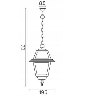 Уличная подвесная лампа 72см, фото 2