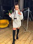 Женская короткая кожаная куртка бомбер на молнии vN6778, фото 2
