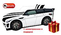 Кровать детская PREMIUM, Кровать машина с матрасом Премиум Land Rover белый