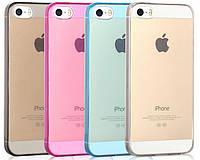 Силиконовый чехол для iPhone 5 5S SE супертонкий 0.3 мм