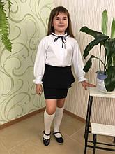 Блуза арлекіно довгий рукав фуликра мереживо 30