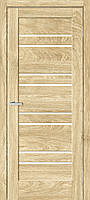 "Двері міжкімнатні ОМіС ""RINO 01G"" дуб Саванна + скло(Natural Look) (600,700,800,900 мм)"