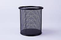 """Подставка для ручек черный """"Стакан"""" №802A , металлическая сетка, органайзер настольный"""