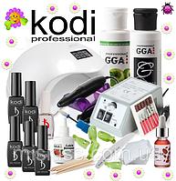 Стартовый набор Kodi Professional для покрытия гель лаком с Лампой Sun 5 48 W и Фрезером Lina 20000 об.