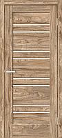 """Двері міжкімнатні ОМіС """"RINO 01G"""" дуб Ориндж + скло (Natural Look) (600,700,800,900мм)"""