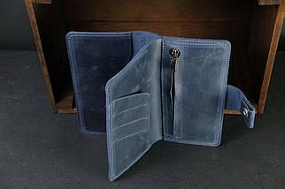 Гаманець клатч Нова Вінтажна шкіра колір Синій, фото 3