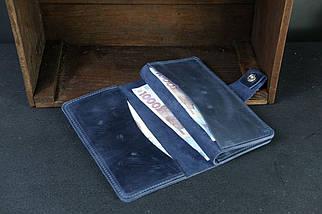 Гаманець клатч Нова Вінтажна шкіра колір Синій, фото 2