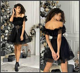 Платье женское сетка в горошек 1052 АБ