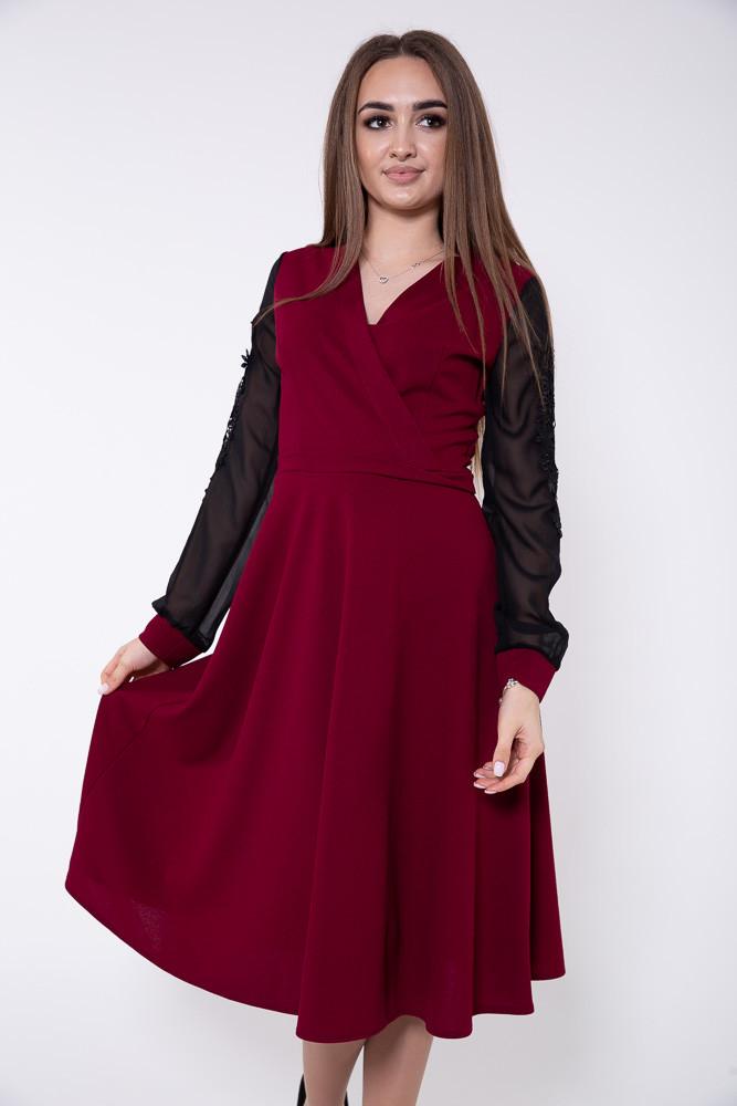 Платье женское 119R140 цвет Бордовый