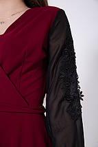 Платье женское 119R140 цвет Бордовый, фото 3