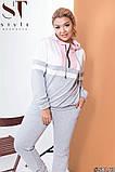 Красивый споривный костюм с контрастными вставками Размеры: 48-50, 52-54,56-58, 60-62, фото 5
