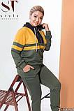 Красивый споривный костюм с контрастными вставками Размеры: 48-50, 52-54,56-58, 60-62, фото 6