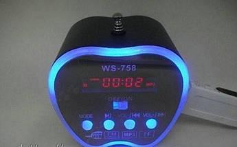 NNS WS-758 ПОРТАТИВНАЯ МУЛЬТИМЕДИЙНАЯ КОЛОНКА-СПИКЕР FM РАДИО, MP3, USB, TF, APPLE лёгкий мини спикер, фото 2