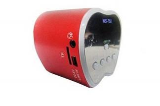 NNS WS-758 ПОРТАТИВНАЯ МУЛЬТИМЕДИЙНАЯ КОЛОНКА-СПИКЕР FM РАДИО, MP3, USB, TF, APPLE лёгкий мини спикер, фото 3