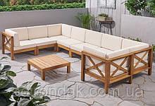 Набор садовой мебели из 9 секций с подушками