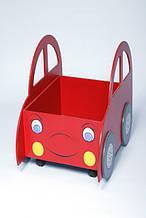 Ящик для игрушек с колесиками (открытый) Машинка (170.02)
