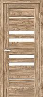 """Двері міжкімнатні ОМіС """"RINO 06G"""" дуб Ориндж + скло (Natural Look) (600,700,800,900 мм)"""