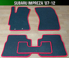 ЄВА килимки Subaru Impreza '07-12. Автоковрики EVA Субару Імпреза