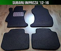 ЄВА килимки на Subaru Impreza '12-16. Автоковрики EVA Субару Імпреза